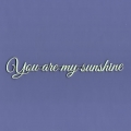 932 Tekturka napis  - You are my sunshine
