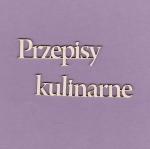 164 Tekturka napis  -Przepisy Kulinarne 2 szt