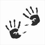 Stempel - odcisk dłoni - duży - 2 szt