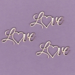 219 Tekturka napis - Love  - 3 szt