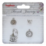 French journay - metal charms