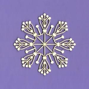 535 Tekturka - Zimowa kolekcja - Snieżynka 1 - G6