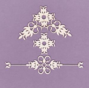837 Tekturka - Ornamenty - zestaw 5- G4