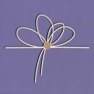 1153 Tekturka - Sznurowany kwiatek 2- G4