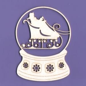 037 Tekturka - Śnieżna kula z Mikołajem