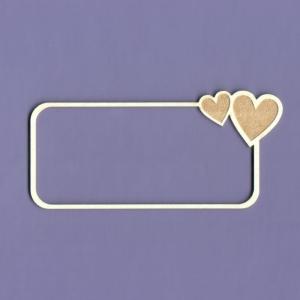 1137 Tekturka  - Ramka Simple Love prostokąt - G4