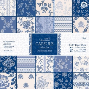 PAPERMANIA CAPSULE COLLECTION - PARISIENNE BLUE 6x6