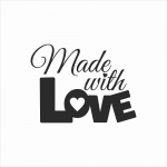 068 Stempel - made with  love 3