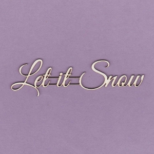 497 Tekturka napis - Let it Snow - G2