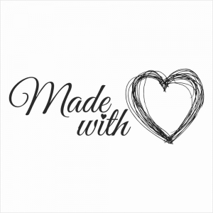 067 Stempel - made with  love 2