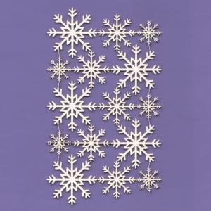 324 Tekturka - Śnieżynki 04 -  zestaw - G18