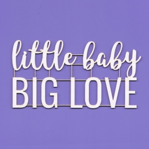 485 Tekturka  - little baby BIG LOVE - G08