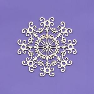 782 Tekturka - śnieżynka folk G05