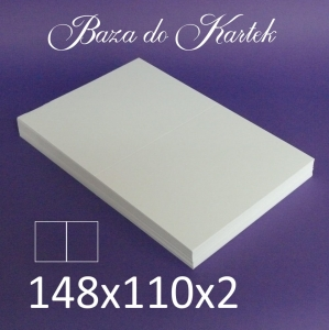 Baza do kartek -  148 x 110 mm