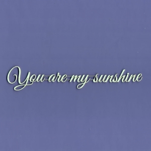 932 Tekturka napis - You are my sunshine - G3