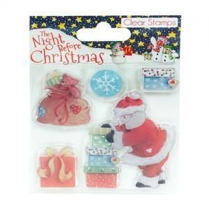 The Night Before Christmas Santa - zestaw stempli