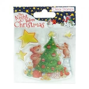 The Night Before Christmas Tree - zestaw stempli