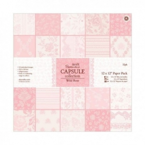 PAPERMANIA CAPSULE COLLECTION - WILD ROSE 6x6